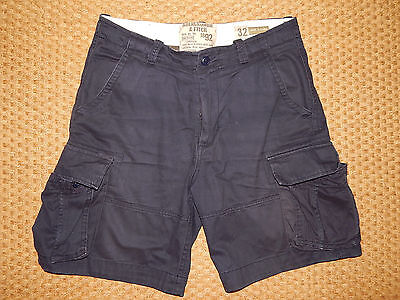 ABERCROMBIE - Short Cargo Bleu taille 42 (32)