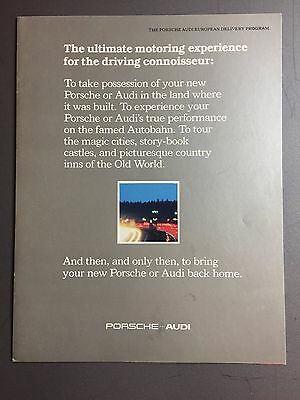 1982 Porsche Tourist Delivery Showroom  Advertising Brochure – RARE Awesome L@@K
