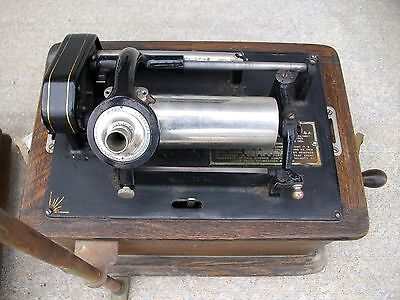 Edison Standard Phonograph With Reproducer And Crane Support