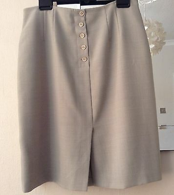 Ladies Minty Green Lined Skirt By M&S Size 18