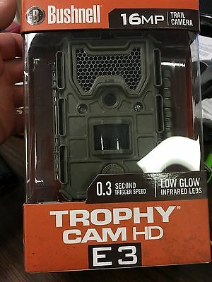 New Bushnell Trophy Cam Hd E3 Trail Camera 16Mp Low Glow Infrared Leds