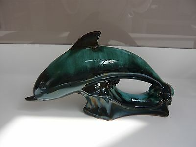 Collectable Large Canadian Blue Mountain Pottery Dolphin Ornament
