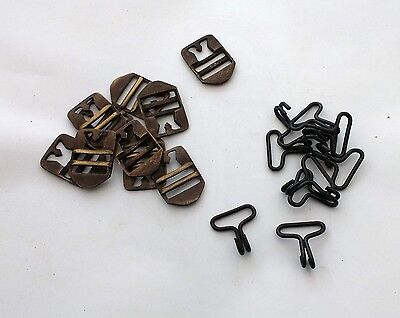10 x Reproduction Budget M1 Helmet Buckles and J Hooks