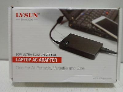 LVSUN Universal Laptop Charger 90W 12-24V One for All - Slim AC Power Adapter