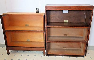 5 Sections - Globe Wernicke Sectional Bookcase, Stacking Barrister Oak, No glass