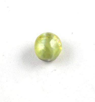 1 Pieces Natural Cats Eye Uneven Round Shape 7mm 3Cts Smooth Handmade Gemstone