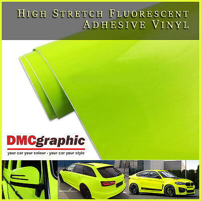 High Stretchable Yellow Fluorescent Neon Bright Adhesive Vehicle Vinyl Wrap Tint