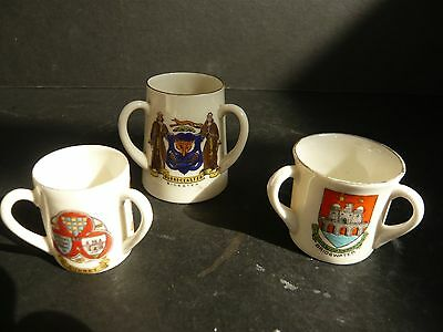 3 Models of 3-Handled Roman Cups: Arcadian, Coronet + one other