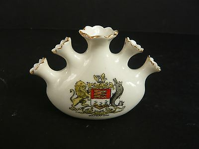 Florentine Crested China 5 Spouted Vase Waterford Crest