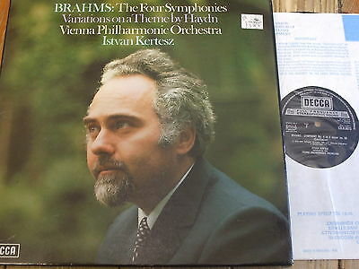 SXLH 6610-13 Brahms The Four Symphonies etc. / Kertesz 4 LP box
