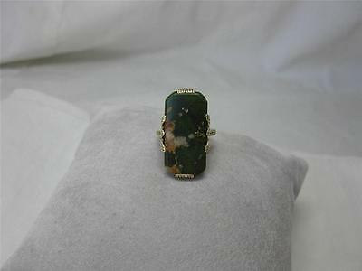 Jade 14K Ring Antique Wedding Engagement Jewelry Estate Gold Art Deco