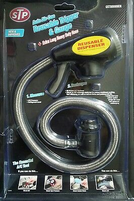 Air Conditioning Recharge Filling Hose With Gauge Reusable Air con Trigger STP