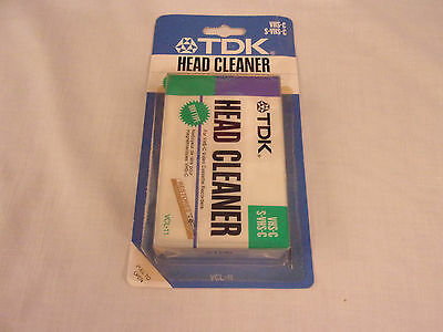 TDK VCL-11 VHS-C Head Cleaner Tape New In Package new old stock Sealed Retail