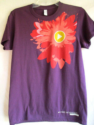Carrie Underwood...play On Tour...t-Shirt...purple & Pink...new...women's M/l