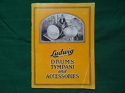 Old Ludwig&ludwig Drum Catalogue 26B1926 Shows Super Ludwig Deluxe Black Beauty