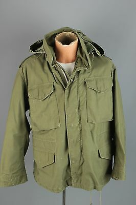 Vtg 1968 Dated US Army Vietnam War M-65 Silver Zip Field Jacket sz S Short #2604