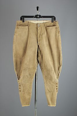 Vtg Men's WWI Summer Weight Breeches Uniform Pants sz 34 1910s Jodphers #2614