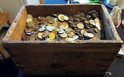 2 Pound Mixed Lot Of Foreign Coins