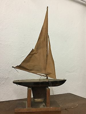 VINTAGE - 1930's EARLY JACRIM POND BOAT - SEAWORTHY? KEYSTONE?