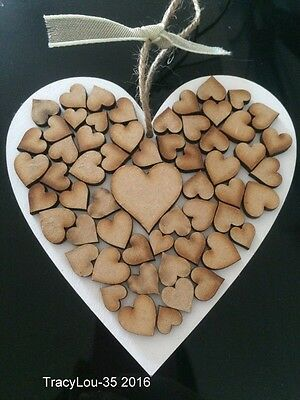 Shabby Chic Wooden Heart Hanging Wall Plaque 12.5 X 12.5 cm