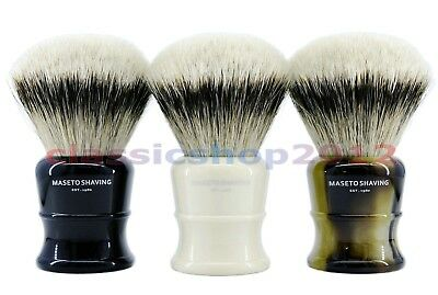 MS  - Fan Shape 100% Silvertip Badger Shaving Brush & Classic Handle 30mm Knot