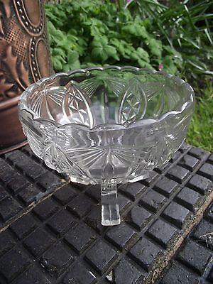 Rose Bowl / Posy Vase - Art Deco 1930's - Clear Glass - Vintage