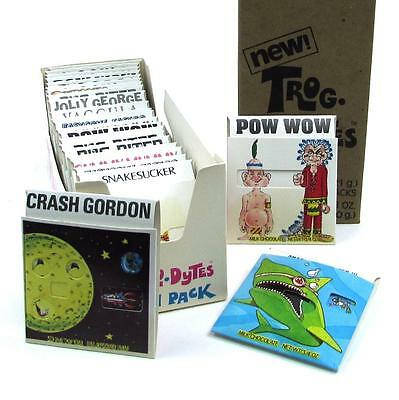 Vintage 1970s Pangburn TROG-LO-DYTES Action Pack Candy Wrapper Chocolate Box NOS