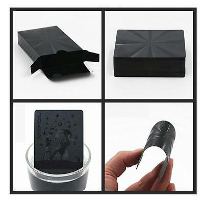 High Quality Black Plastic PET Poker Waterproof Magic Playing Cards Table Game F