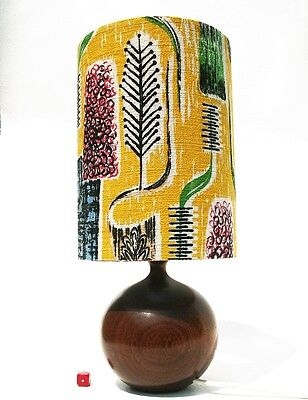 Solid Wood Table Lamp Hand Turned Danish Modernist Style 24cm
