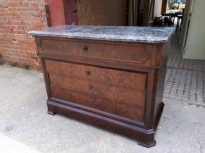 Fine French 'commode Dessus Marbre' With Secretaire