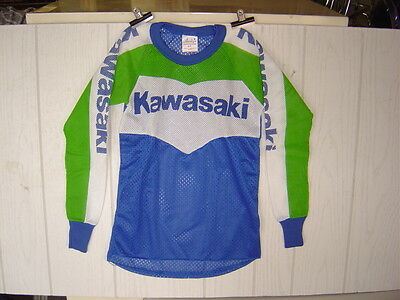 1 New Perforated Kawasaki Children MX Racing Jersey Size Youth Medium..