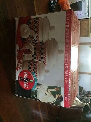 Canister Set Of 4- Coca-Cola Checkered Red/black Brand New Never Been Open