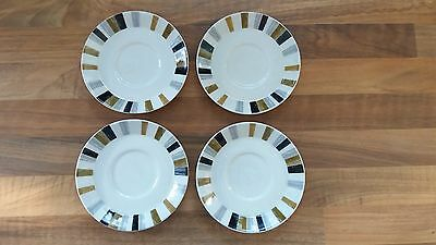 Midwinter * queensberry stripe saucers x4 * Next day post