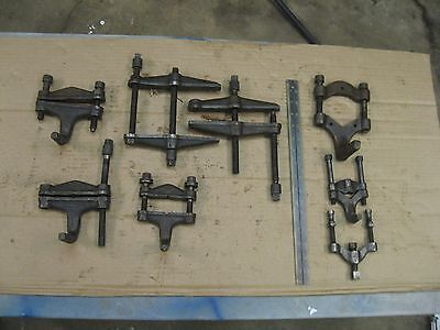 J.H.Williams/Vulcan/others metal work/fixture clamps lot of (8)
