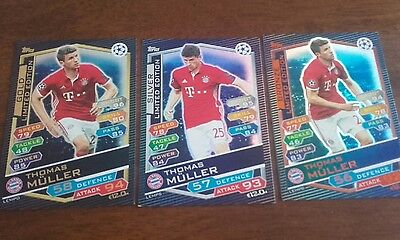 champions league match attax thomas muller limited edition set 16 17