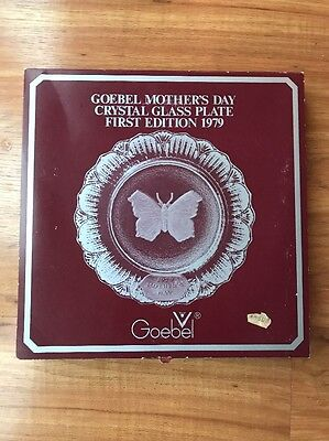 goebel mothers day crystal glass plate