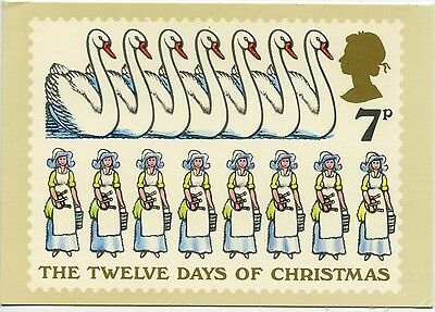First Day Cover Stamp Twelve Days Of Christmas - Seven & Eight - 1977