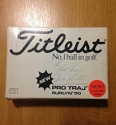 Vintage Titleist Pro Traj Set Of Golf Balls Signed By John Conteh