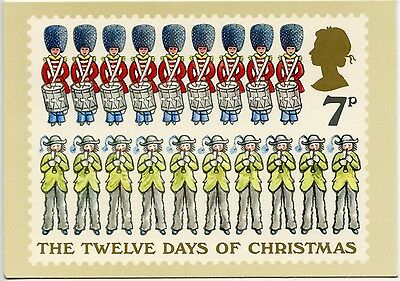 First Day Cover Stamp Twelve Days Of Christmas - Nine & Ten - 1977