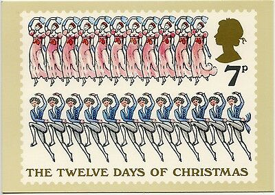 First Day Cover Stamp Twelve Days Of Christmas - Eleven & Twelve - 1977