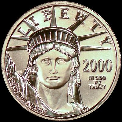 2000 $10 Statue of Liberty - Platinum American Eagle PCGS MS70