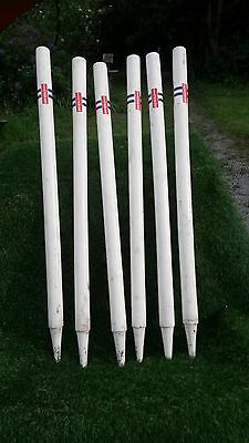 Gray Nicolls Cricket Stumps. Set of 6 Full Size 28 Inch Stumps. Used.