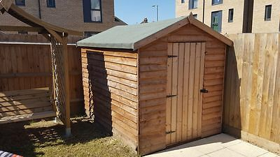 8 ft x 6 ft GREAT CONDITION PRE TREATED WINDOWLESS WOODEN GARDEN SHED