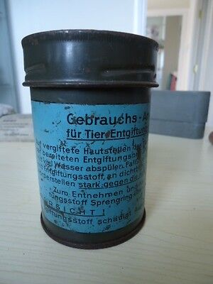WW2 German Army Metal Container to carry Gas De-contamination Kit for Animals