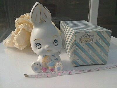 Cute Bunny Rabbit Christening Money Box Made by Pollyanna