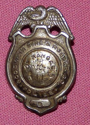 Rare Vintage Obsolete Badge - Goodyear Tire & Rubber Co. Police
