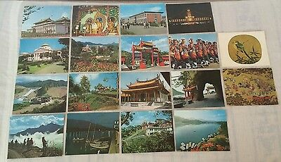 1965 The Republic Of China 34 Double-Sided Vintage Photo Cards