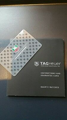 TAG heuer instructions and international guarantee card for quartz watch