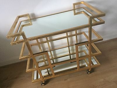 Art Deco Bar Cart Drinks Cocktail Trolley