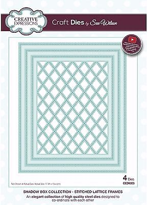 CED9303 Sue Wilson - Shadow Box Collection - Stitched Lattice Frame